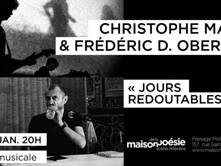 Lecture musicale à la Maison de la Poésie de Paris le 19.01.18
