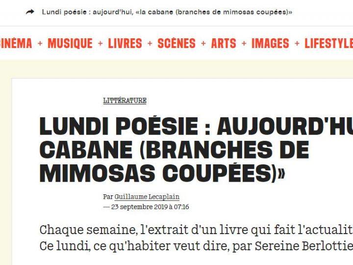 """Un extrait de """"Habiter"""" dans Libération"""